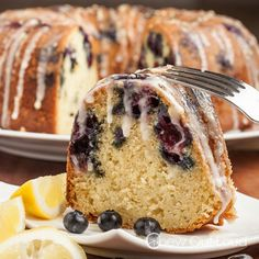 Best Blueberry Lemon Bundt Cake