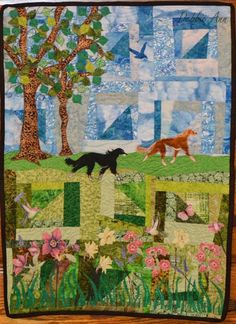 Looking for quilting project inspiration? Check out Saluki Paradise by member DebbieAnnH.