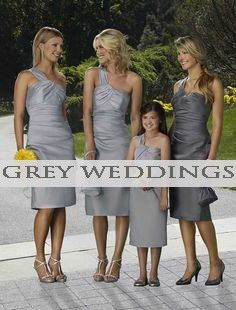Great ideas for wedding style using the color grey and what it goes best with!