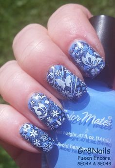 Nailpolis Museum of Nail Art | Butterfly Blues by Gr8Nails
