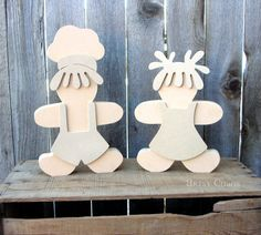 Unfinished Wood GINGERBREAD Boy & Girl #Christmas #woodcutout #unfinishedwoodcraft #crafts #diy #gingerbreadmen