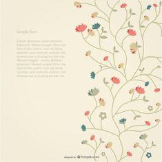 Fodo de flores estilo retro Vector Gratis