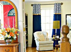 FABULOUS tutorial for DIY Window Curtains! Add these inexpensive window treatments to your home decor! by 3 Little Greenwoods for Designer Trapped in a Lawyer's Body