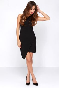 One More Time Black Dress at Lulus.com!