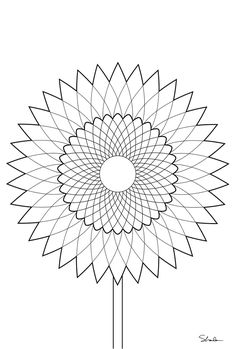 Flower Mandala - as template for embroidery