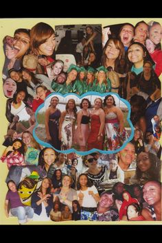 Going away best friend collage, for friends going away to college. Used every picture ever taken&trimmed them down then made them fit &framed it.