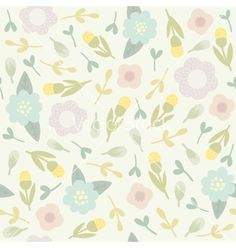 Cute floral seamless pattern vector by kondratya on VectorStock®