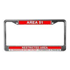 Area 51 Dreamland License Frame #LicensePlate #LicenseFrame #Area51 #Dreamland #Groomlake #Alien #UFO