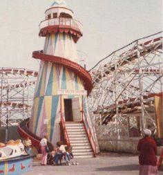 More Welsh Wonders - Helter Skelter slide and Big Dipper Rollercoaster ride, Porthcawl British Seaside, Irish Sea, Fun Fair, Cymru, Cardiff, South Wales, Roller Coaster, Back In The Day, Welsh