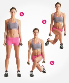 Flatten your tummy with cross behind lunges. Click through for directions PLUS 9 more ab exercises that beat crunches