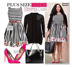 """""""Plus Size Fashion- Spring Date"""" by kusja ❤ liked on Polyvore featuring New Look, Sam Edelman, Givenchy, BloggerStyle, plussizefashion and curvyfashion"""