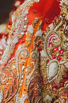 Photo by:Dastan Studio Zardozi Embroidery, Embroidery Art, Embroidery Designs, Pakistani Bridal, Indian Bridal, India Pattern, Indian Wedding Fashion, Wedding Prep, Gold Work
