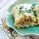 Chicken, Artichoke, and Mushroom Lasagna Rolls | Good Life Eats