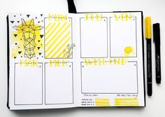Bullet journal weekly layout // bujo