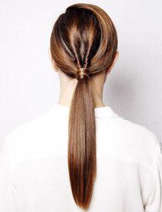 low twist ponytail