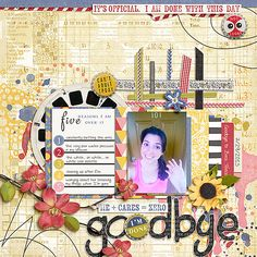 Digital Scrapbook Page Layout by  using Messy Bun Kind of Day and matching Journal Cards from Etc by Danyale and Plant Your Story Journaled v4 by Sara Gleason at The Lilypad  #etcbydanyale #digitalscrapbooking #memorykeeping #messybun