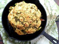 Garlic and Herb Crusted Whole Roasted Cauliflower