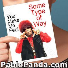 Funny Valentine Card Rich Homie Quan Valentine For by PabloPanda Funny Valentines Cards, Valentines For Boys, Funny Greeting Cards, Funny Cards, Birthday Cards For Her, Funny Birthday Cards, Birthday Gifts, 25th Birthday, Card Birthday