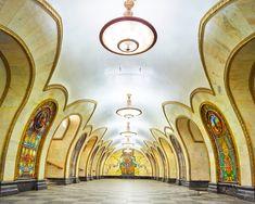 Novoslobodskaya Metro Station, Moscow, Russia, 2015