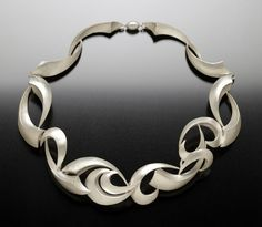 Collar silver necklace by MICHAEL & MAUREEN BANNER-USA