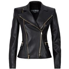 Balmain Biker Jacket found on Polyvore