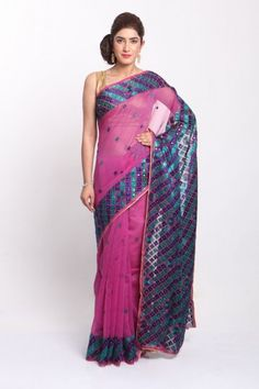 Phulkari Sarees | Georgette Chanderi Net Chinon Chiffon | IndiaInMyBag.com Phulkari Saree, Indian Dresses, Yards, Chiffon, Formal Dresses, Elegant, Fabric, Collection, Fashion