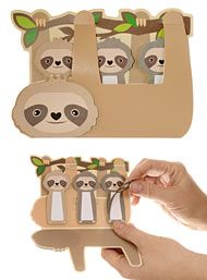 New Arrivals - Smiling Sloths Sticky Note Memo Tabs by Streamline NYC Gifts Home Decor