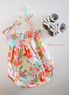 Smocked Baby Romper Tutorial - delia creates