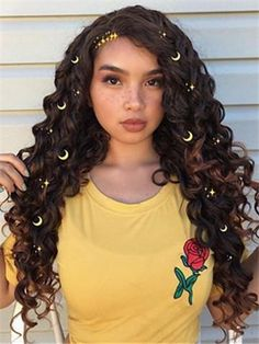 Oops, I did it again 🙊 Baddie Hairstyles, Party Hairstyles, Black Girls Hairstyles, Cute Hairstyles, Synthetic Lace Front Wigs, Synthetic Hair, Curly Hair Styles, Natural Hair Styles, Girl Hair Dos