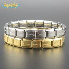Hapiship 2017 New Fashion Man/Women's Jewelry Gold/Silver Letter Stainless Steel Wish Bracelet Bangle Friend Birthday Gift G001  #Affiliate
