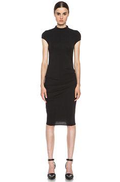 HELMUT LANG Nova Drape Dress in Black