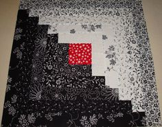 Neat idea for black and white quilt. Love this but I would swap every other color with the opposit color