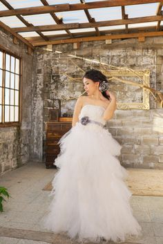 Wedding Accessories   Grey bridal satin sash & hair dresser   FleuriFleuri…