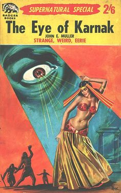 belly-dancing pulp | I love this. It looks 50's to me, sy-fy, and she is so very pretty. <3