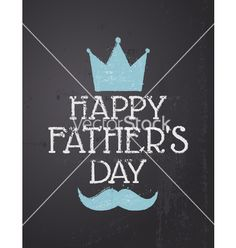 Fathers day greeting card vector by dolcevita on VectorStock®