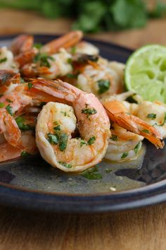 paleo cilantro lime shrimp