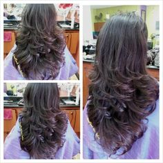 Cut and style by Kelly - Yelp Front Hair Styles, Medium Hair Styles, Curly Hair Styles, Haircuts For Medium Hair, Short Layered Haircuts, Indian Hair Cuts, Long Hair Cuts, Hair Flip, Hair Highlights