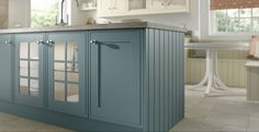 Painted Kitchen Steel Blue