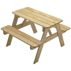 Shop Little Colorado Child's Wooden Picnic Table - Overstock - 9009514 - Uned Kids Table Chair Set, Kid Table, Table Bench, Door Table, Woodworking Projects For Kids, Woodworking Plans, Woodworking Joints, Kid Projects, Woodworking Supplies