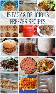 15 Easy  Delicious Freezer Recipes to try! Stock your freezer with healthy, on-the-go foods!