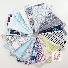 Paper Obsessed by Heather Givans for Windham Fabrics Fat Quarter Bundle from Lady Belle Fabric