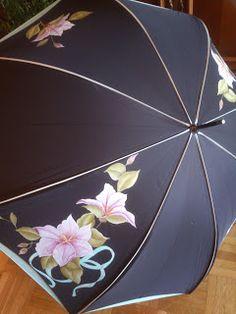 Detalles de FELI.: Paraguas pintados a mano.