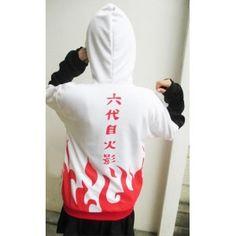 Naruto Yondaime Minato Red Text Hoodie Jacket #naruto #jacket #yondaime