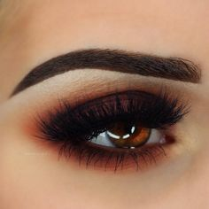 The talented shows off new Makeup Geek Matte Eyeshadows with this super sultry burnt orange smoky eye! Featured shades are: Cherry Cola Morocco Americano Mirage by makeupgeekcosmetics Makeup For Brown Eyes, Smokey Eye Makeup, Skin Makeup, Makeup Brushes, Make Up Brown Eyes, Brown Eyeshadow Looks, Bold Eye Makeup, Makeup Remover, Makeup Geek