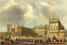 During the 19th century it was enlarged, principally by architects John Nash and Edward Blore, forming three wings around a central courtyard. Buckingham Palace finally became the official royal palace of the British monarch on the accession of Queen Victoria in 1837.