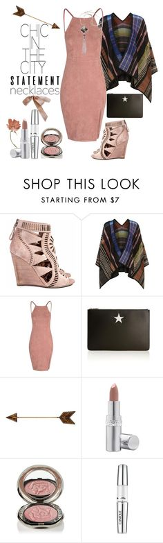 """""""Bella's Treasure Statement Necklace"""" by loves-elephants ❤ liked on Polyvore featuring Sergio Rossi, Missoni, Givenchy, La Prairie, Chantecaille and Clinique"""