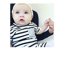 Look at this cutie  Thanx for sharing @idaceciliaberglund #babysuit #breton #stripes
