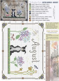 My dear Stitchers,      We are in the middle of summer and it is time to release the August pattern of my JOYFUL WORLD calendar!  I cho...