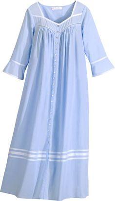 Eileen West Summer Breeze Cotton Robe for Women Cotton Nighties, Cotton Dresses, Night Dress For Women, Casual Dresses For Women, Night Gown Dress, Nightgown Pattern, Dress Neck Designs, Nightgowns For Women, Blazer Dress