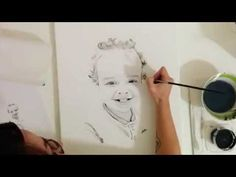 "Speed Painting Portrait ""Harrison"" by Angela Simon - YouTube"